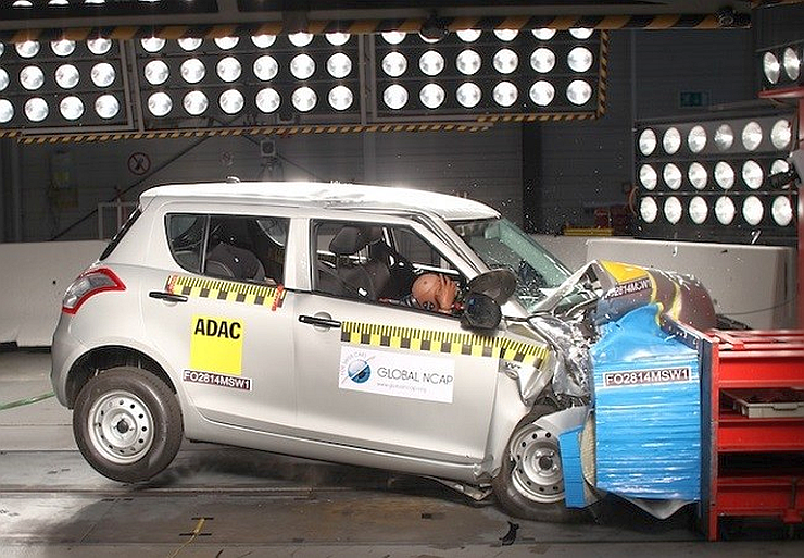 Maruti Suzuki Swift in a Global NCAP Test Pic