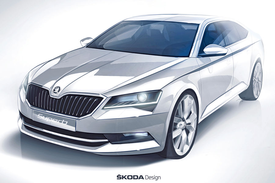 2016 Skoda Superb Luxury Saloon Official Sketch