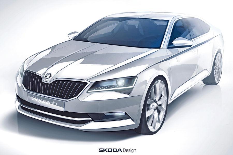 2016 Skoda Superb Luxury Saloon Interiors Revealed ahead of 2015 Geneva Debut