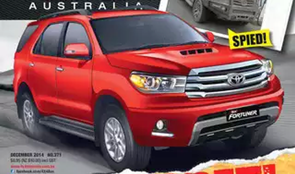 2016 Toyota Fortuner SUV – New Render and Spyshot Surface