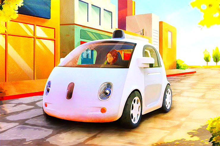Google Autonomous Electric Car Prototype