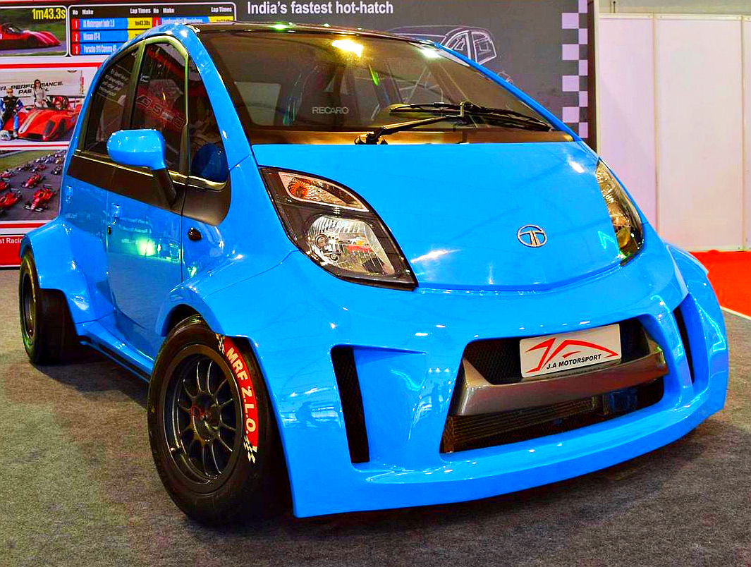 Ja Motorsports Tata Super Nano Hatchback Car Is A 230 Bhp