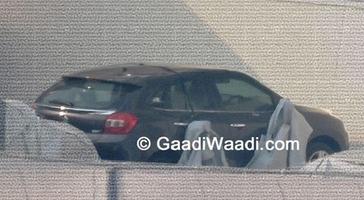 YRA B+ segment hatchback with Maruti Suzuki badges spotted in India