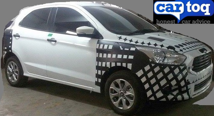 2015 Ford Figo Hatchback Spyshot Front Three Quarters