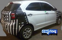 2015 Ford Figo Hatchback Spyshot Rear Three Quarters