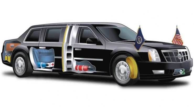 President Barack Obama's Limousine Cutaway