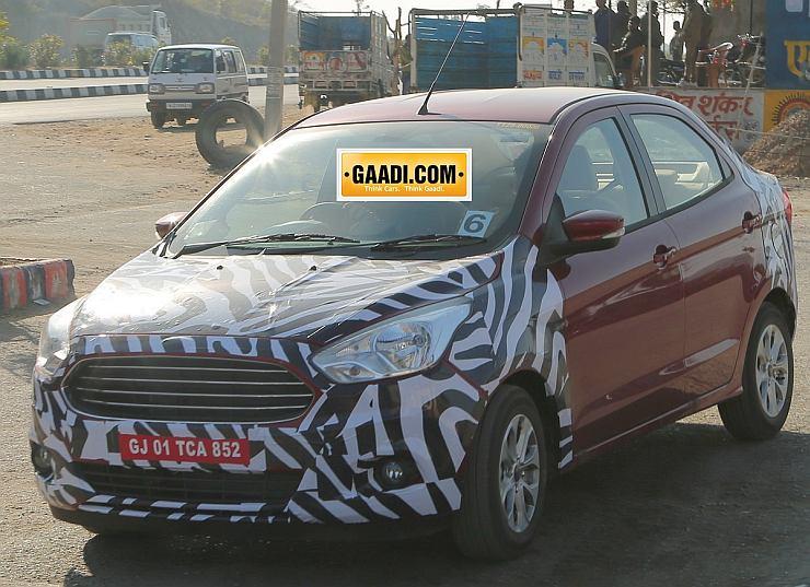 2015 Ford Figo Compact Sedan Spyshot FRont