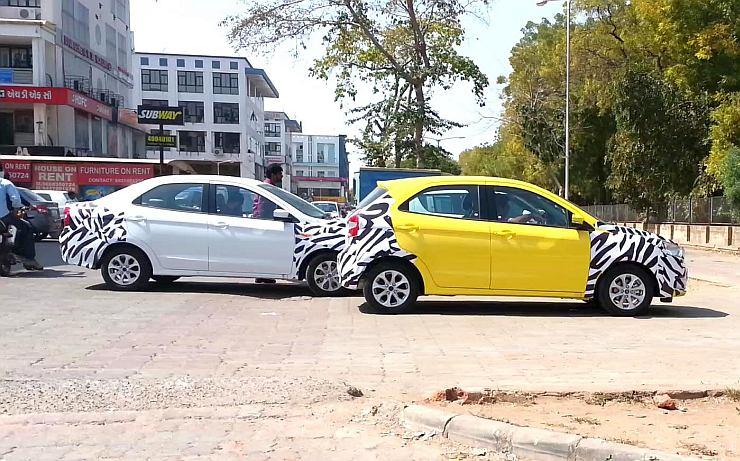 2015 Ford Ka+ Full-Size Sedan Spotted Testing in India