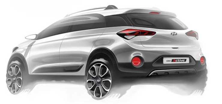 2015 Hyundai i20 Active Sketch Rear