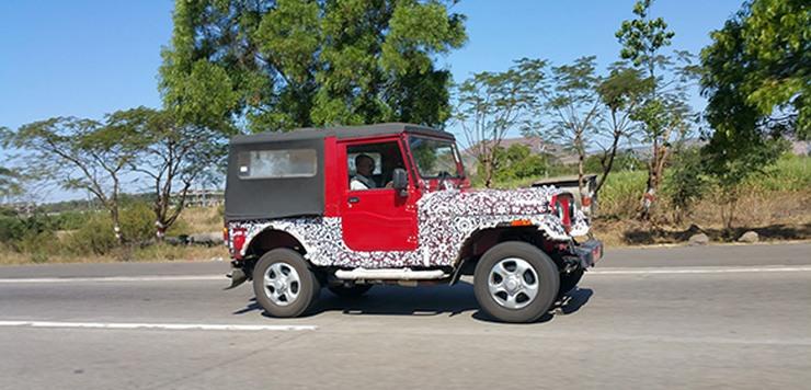 2015 Mahindra Thar SUV Facelift Spyshot Profile