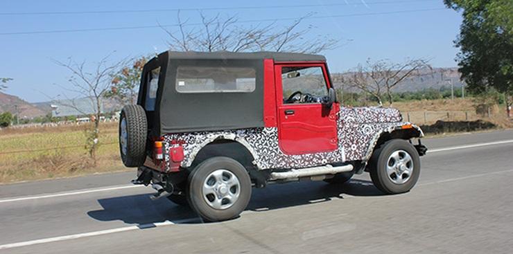 2015 Mahindra Thar SUV Facelift Spyshot
