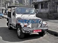 2015 Mahindra Thar SUV Facelift Spyshot Front