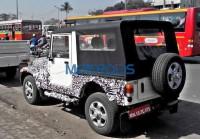 2015 Mahindra Thar SUV Facelift Spyshot Rear