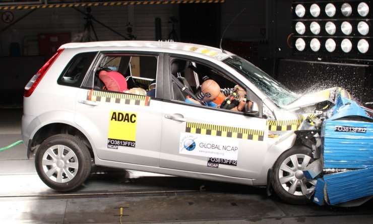A Ford Figo in the Global NCAP Crash Test