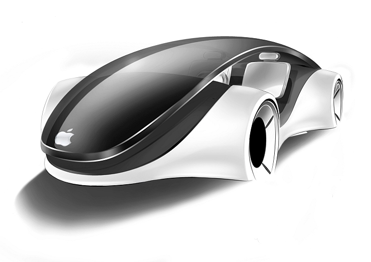 Apple Electric iCar Render Front