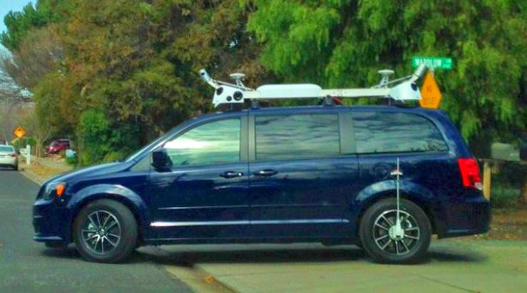 Apple Self Driving Minivan Prototype