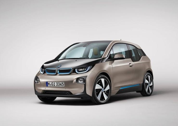 BMW i3 Electric Car Front Three Quarters