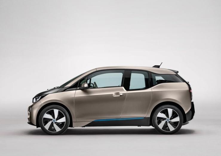 BMW i3 Electric Car Left Profile