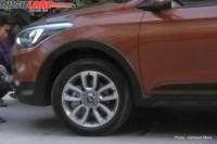 Hyundai i20 Active Crossover Spyshot Front Wheel