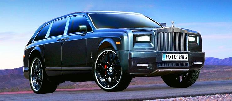 Rolls Royce SUV Render Front