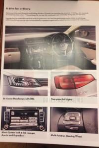 Volkswagen Jetta Facelift Brochure Features