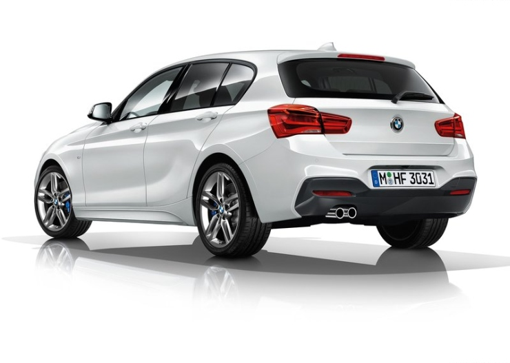 2015 BMW 1-Series Hatchback Facelift Rear Three Quarters