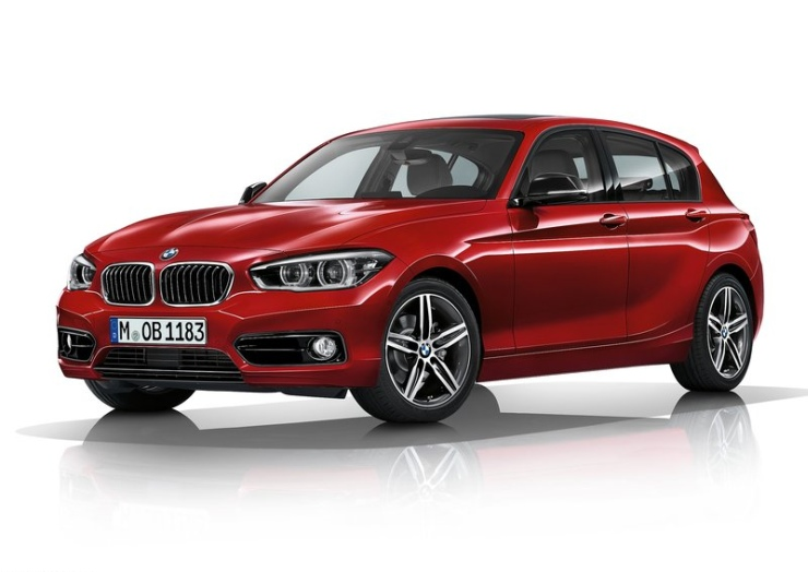2015 BMW 1-Series Hatchback Facelift in Red
