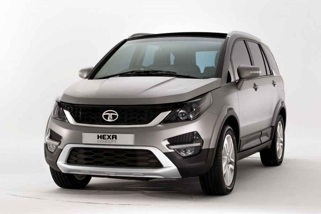 016 Tata Hexa Crossover Concept Front Three Quarters