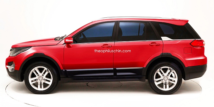 2017 Tata Q501 Luxury SUV Render Profile