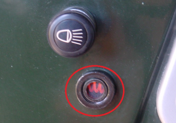 Jeep glow plug indicator