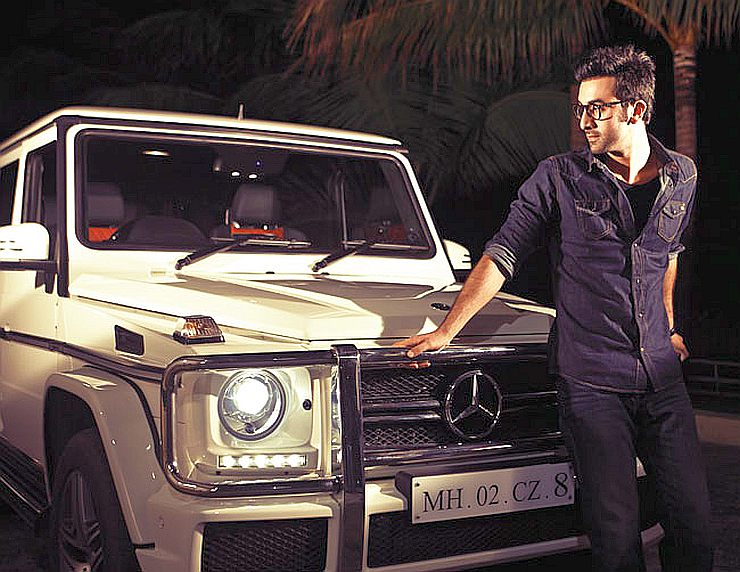 Ranbir Kapoor with his Mercedes Benz G-Class G63 AMG SUV