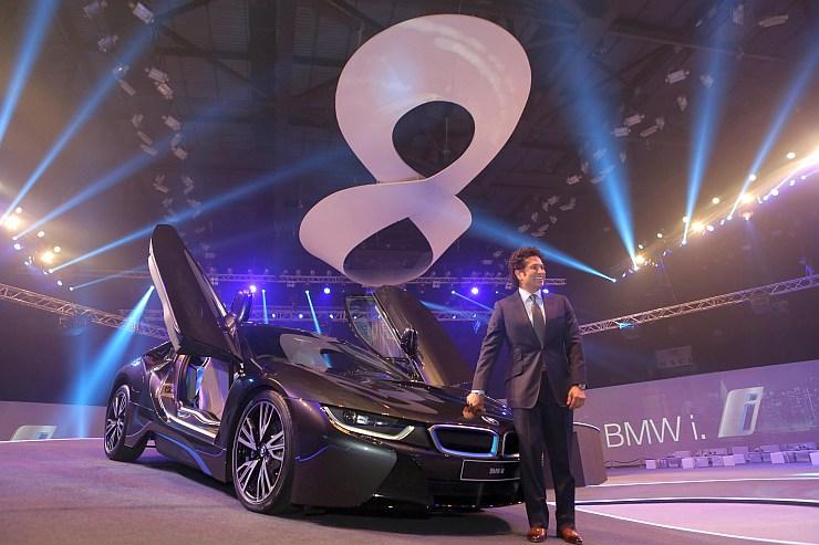 Sachin Tendulkar at the BMW i8 Launch