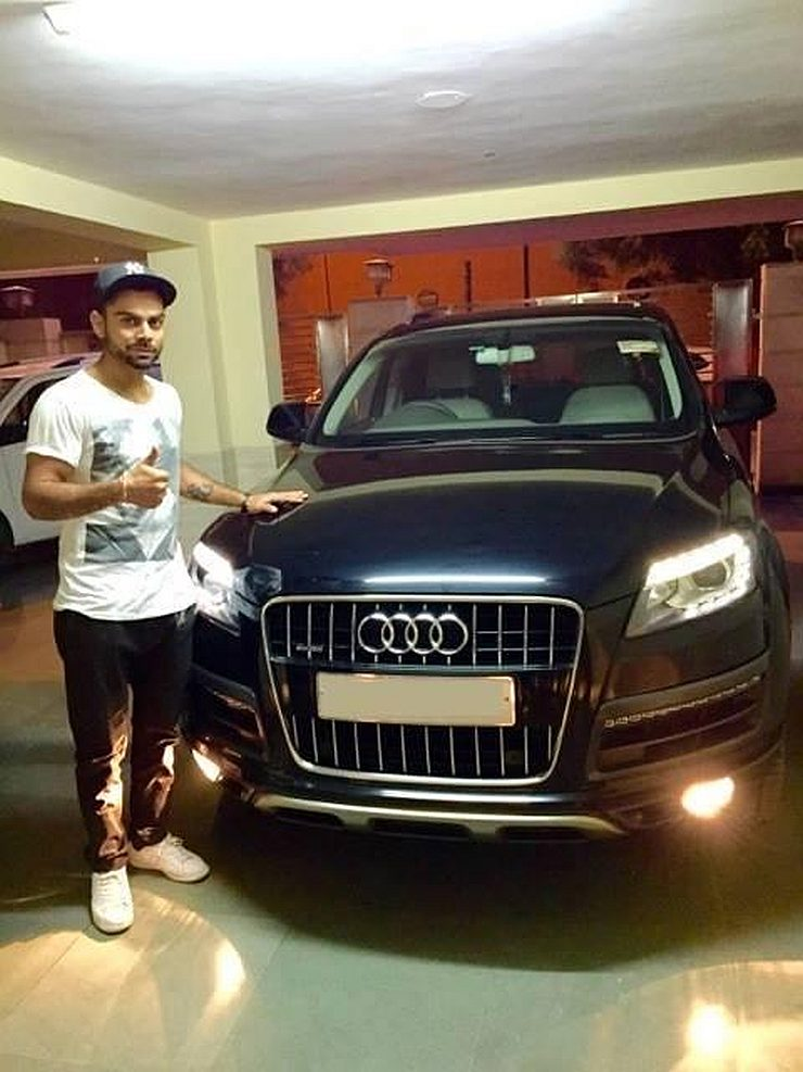 Virat Kohli with his Audi Q7 4.2 TDI SUV