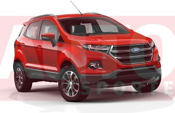 2016 Ford EcoSport Facelift Render 1