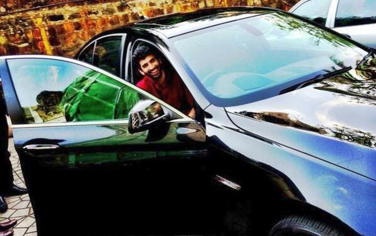 Aditya Roy Kapoor in his BMW 5-Series