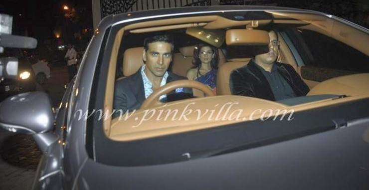 Akshay Kumar in his Bentley Continental Flying Spur