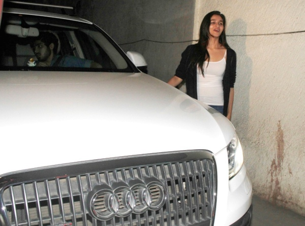 Alia Bhatt with her Audi Q5 Luxury SUV