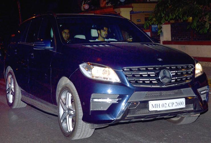 Arjun Kapoor in his Mercedes Benz ML