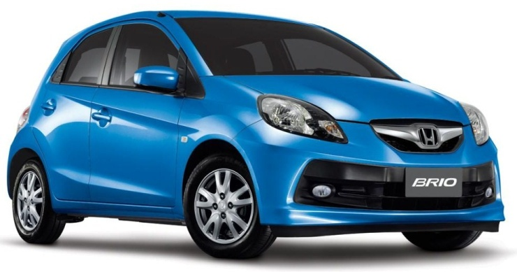 Honda Brio in Blue