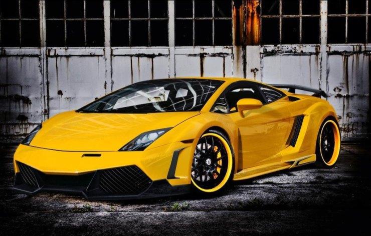 Lamborghini Gallardo in Yellow