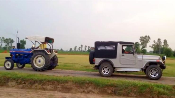 Mahindra Thar vs Tractor