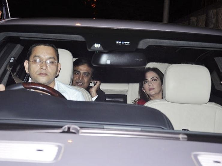 Mukesh Ambani in his Car