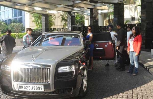 Priyanka Chopra with her Rolls Royce Ghost
