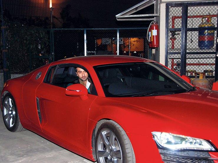 Ranbir Kapoor in an Audi R8 Supercar