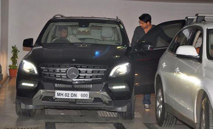 Siddharth Malhotra with his Mercedes Benz ML350 CDI