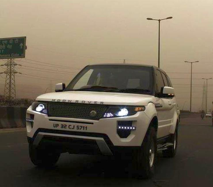 Tata Safari to Range Rover Evoque Replica 3