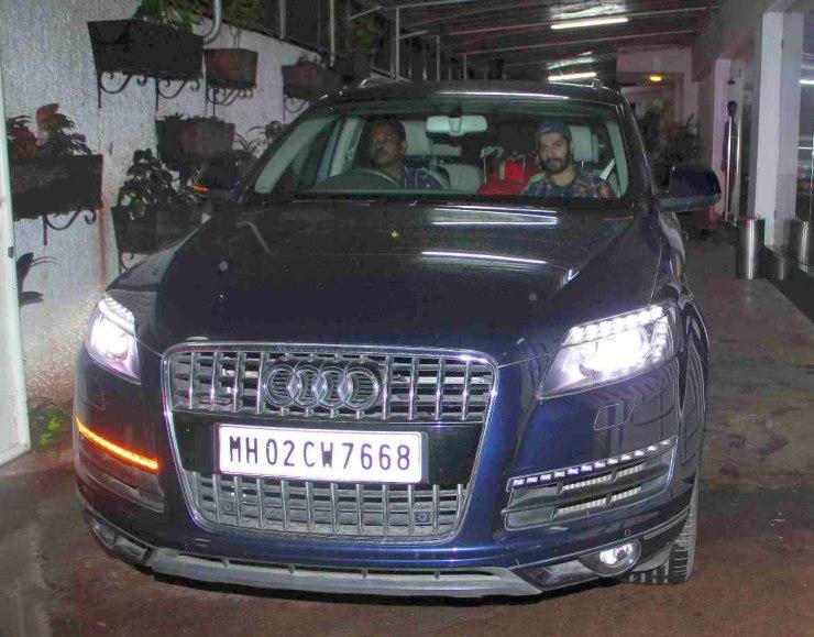 Varun Dhawan in his Audi Q7