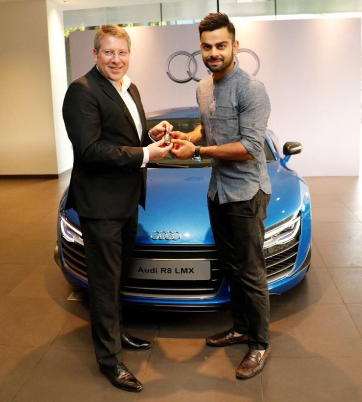 Virat Kohli in his Audi R8 LMX Supercar 4