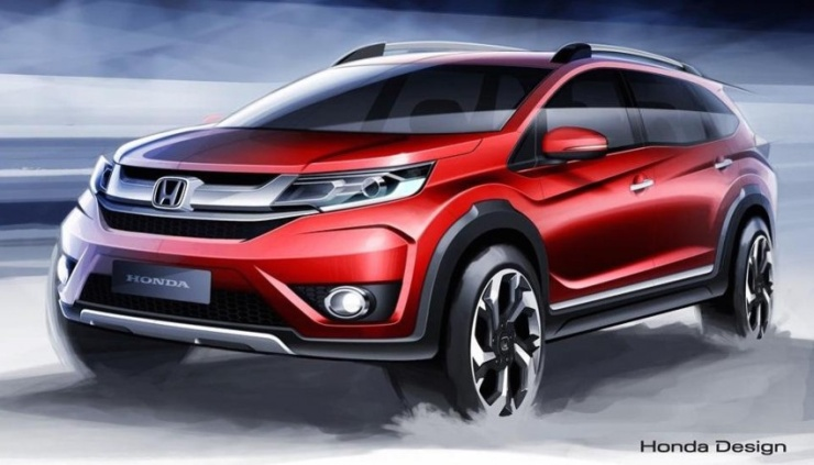 A sketch of the Honda BR-V compact crossover