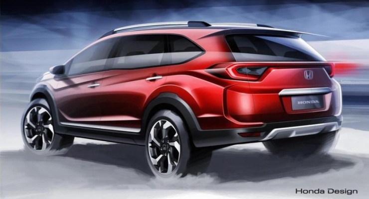 2016 Honda BR-V Compact SUV Sketch 2